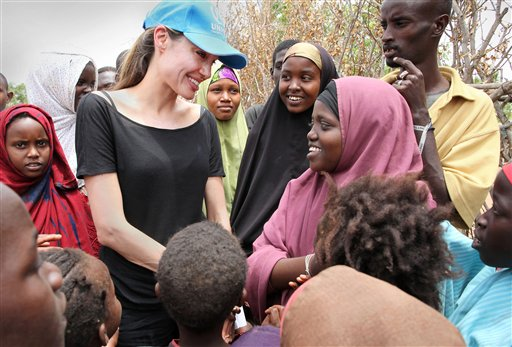 Angelina Jolie Charity Work in Kenya