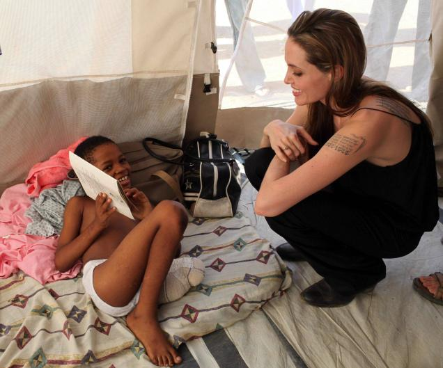 Angelina Jolie Charity Work in Africa