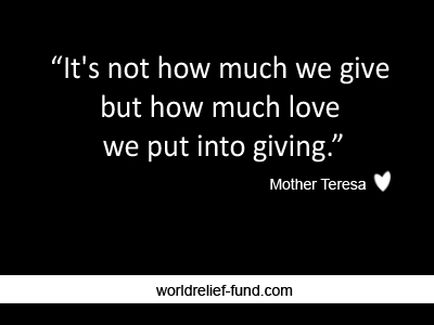 25 Best Inspirational Charity Quotes - World Relief Fund - Charity ...